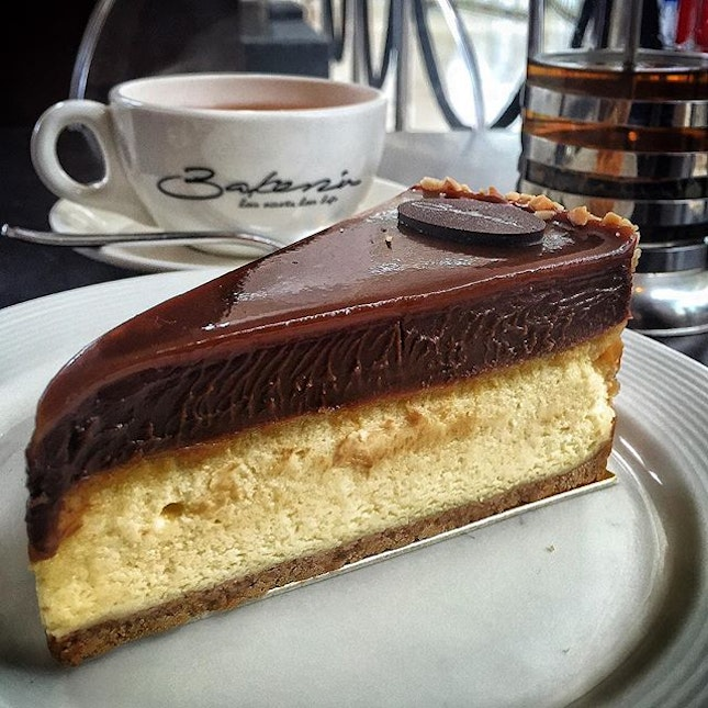 For Unassumingly Good Salted Caramel Cheesecake