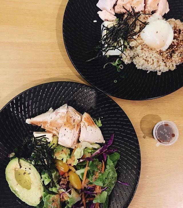 For Protein-Rich Salads in a Food Court