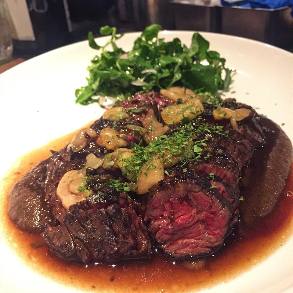 For Charcoal-Grilled Hanger Steak