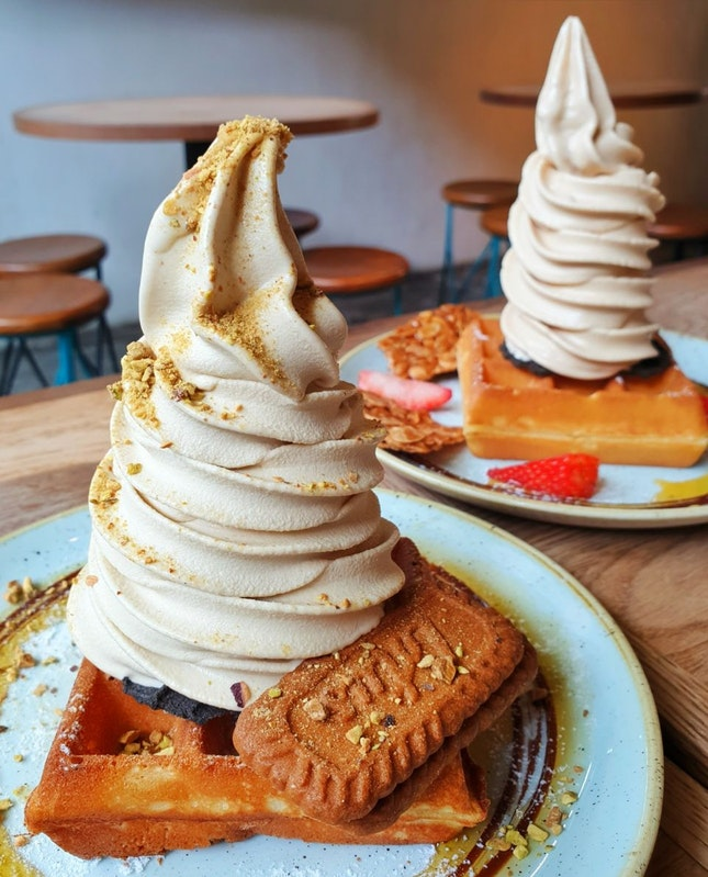 For 1-for-1 Waffles with Ice Cream