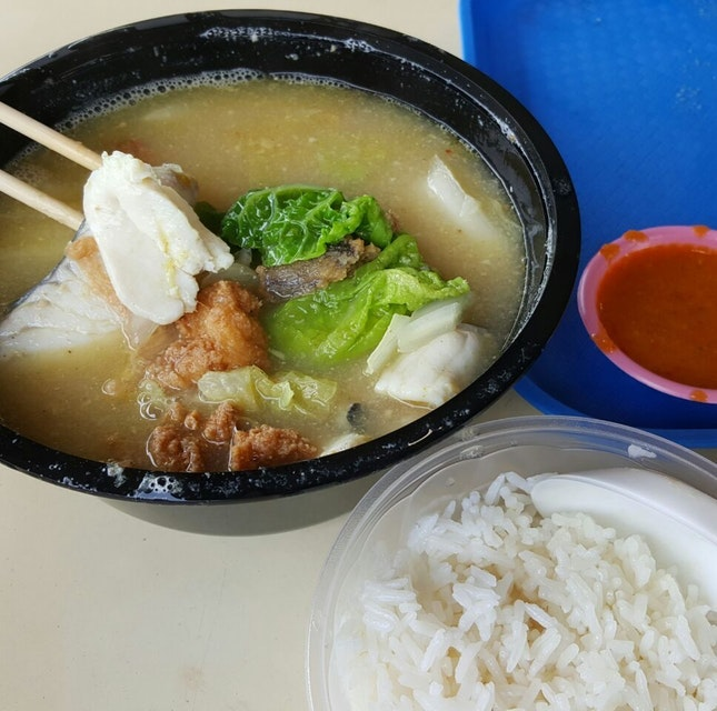 For Best Mixed (Sliced and Fried) Fish Soup