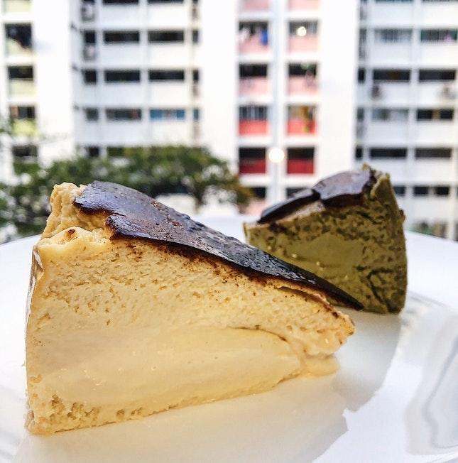 For Hojicha Burnt Cheesecake