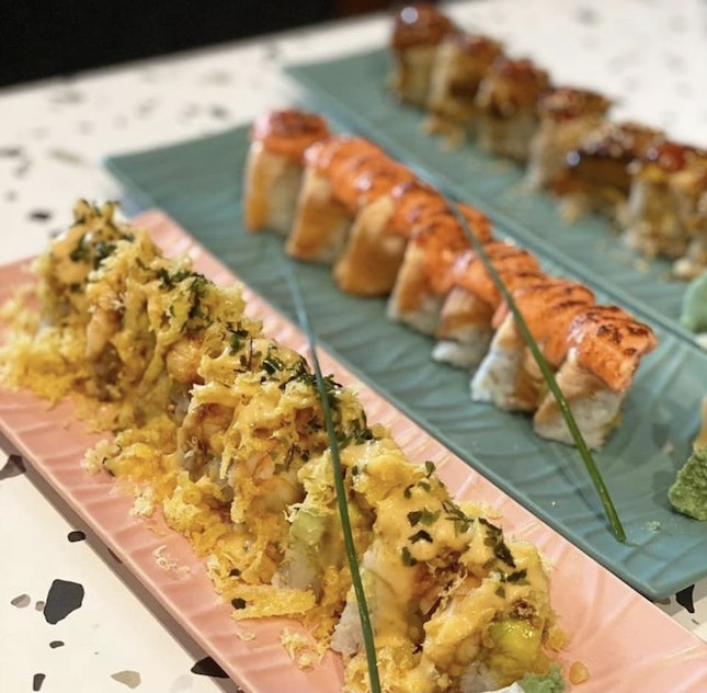 For 1-for-1 Sushi Rolls (save ~$19)