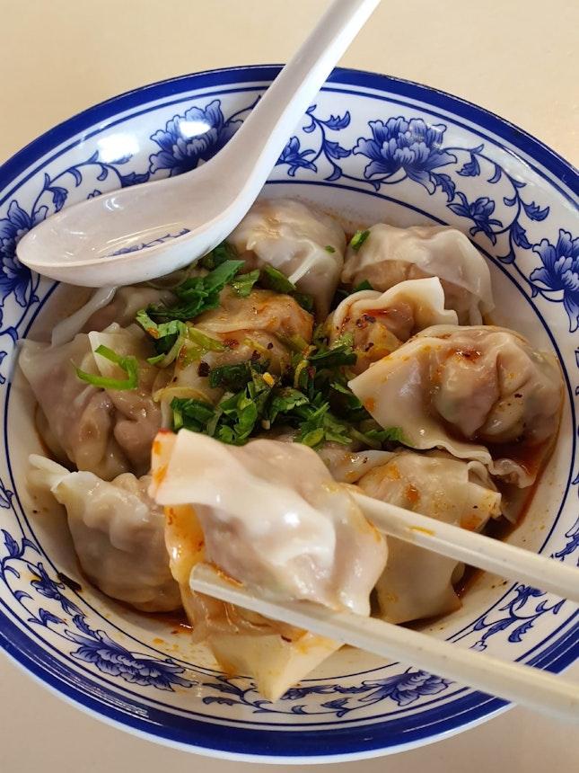 Poached Sze Chuan Dumpling In Spicy Sauce ($5)