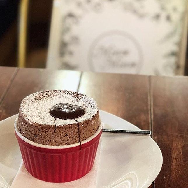 Valrhona Chocolate Soufflé to sweeten the day .