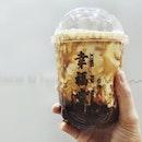 满满一杯的幸福•Finally made my way to @takashimayasc for @xingfutangsg Brown Sugar Boba MilkSoft chewy pearls with fresh milk, that's my kinda drink.