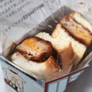 Got this delicious @kimukatsu_official Pork Cutlet sandwich @takashimayasc food fair.