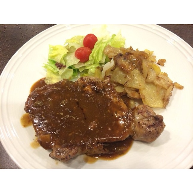 Barbecue Pork Chop is surely satisfying!