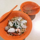 Lunch of Fishball Minced Meat Noodles from Joo Chiat Chiap Kee to take a break from work!