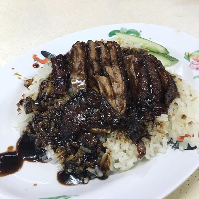 Roasted Duck Rice from Hua Fong Kee Roasted Duck  The pieces of duck meat were very tender and roasted with flavour!