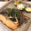 Chargrilled Fresh Salmon with Soba ($15.80)