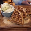 Waffles + Double Scoops ($11.90)