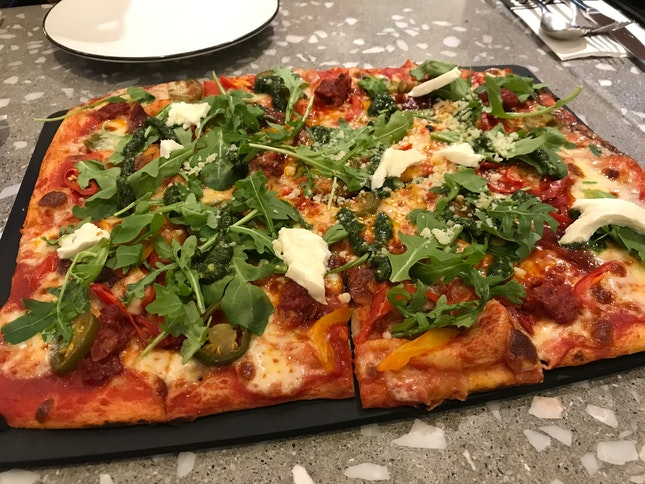 Our Hero Pizza: Calabrese ($29)