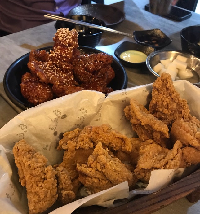 Original (Mild Spicy) & Fried Chicken (Half Each)