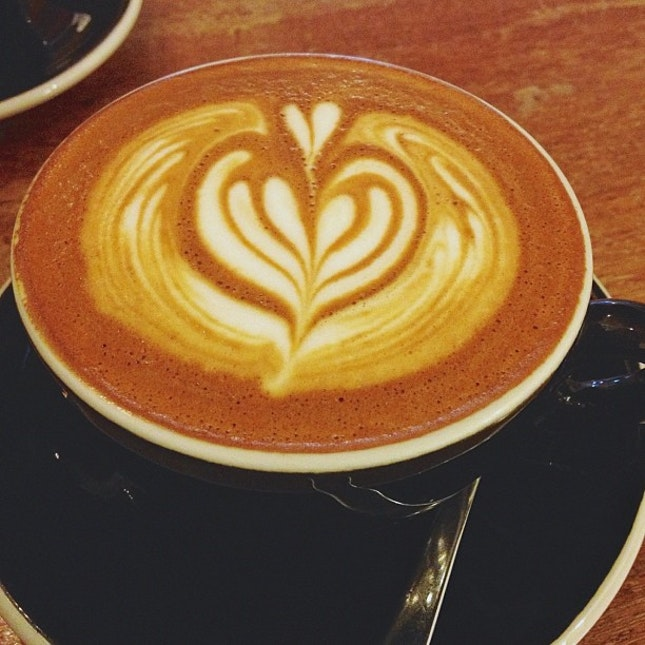 Flat white - with an extra shot today ☕