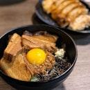 A bowl of flavourful Toroniku Nagoya Mazesoba & gyoza is a must to eat if u're super hungry!