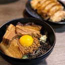 A bowl of flavourful Toroniku Nagoya Mazesoba & gyoza is a must to eat if u're super hungry!