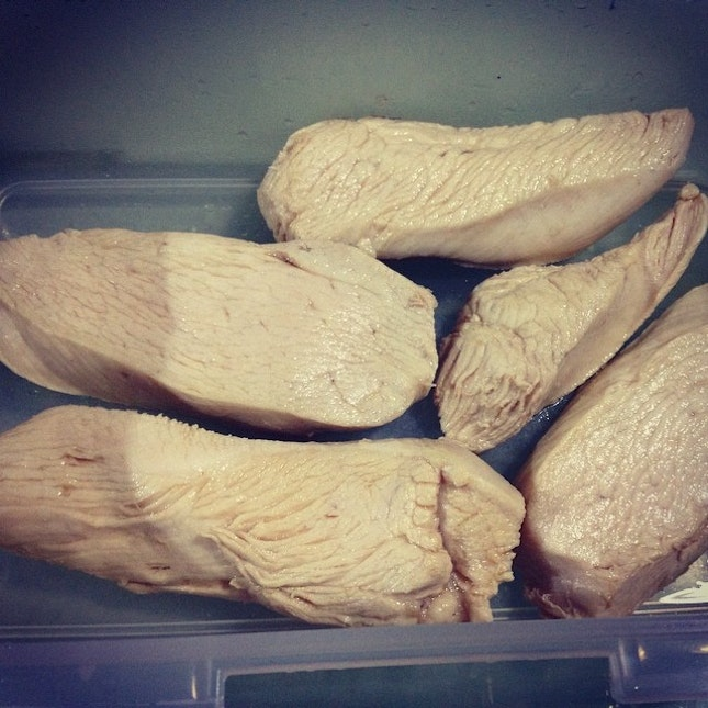 #lunch #boiled #chicken #breastmeat #healthy #diet