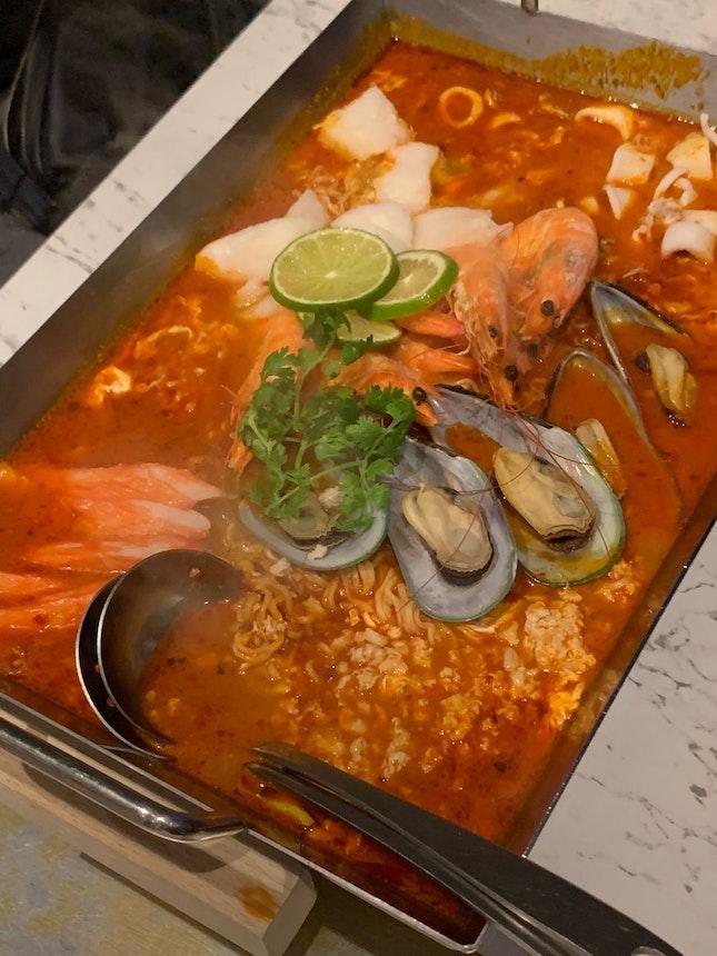 Tom Yum Seafood Pot