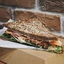 kraftwich smoked salmon sandwich 🌝