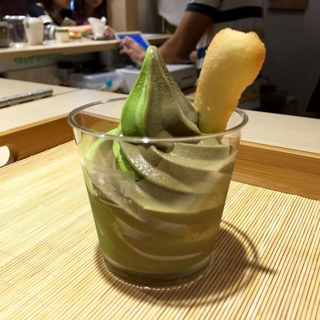 Matcha And Houjicha Soft Serve