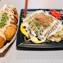Cheese Mentaiko Takoyaki & Okonomi Yakisoba