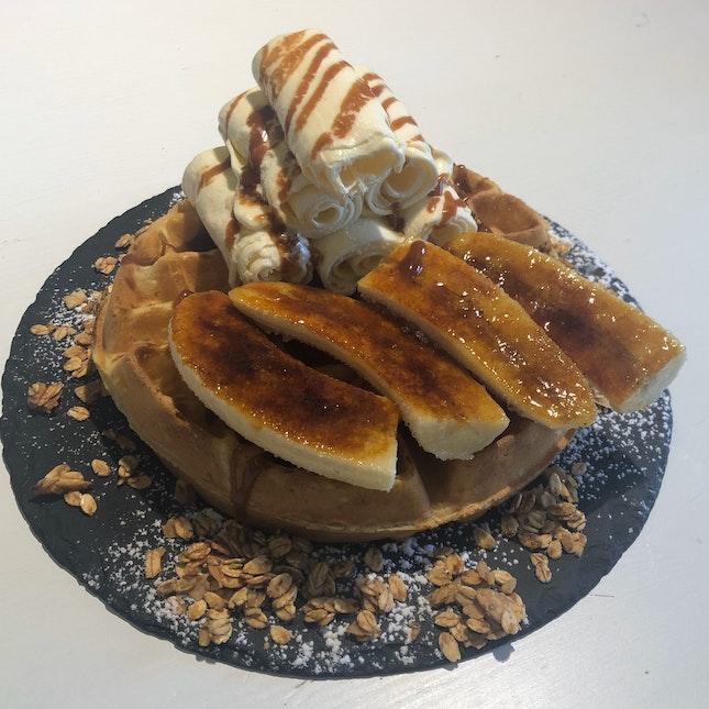 Caramelized Banana Waffle