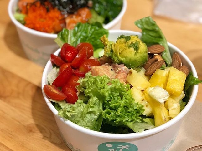 Poke bowl (L $19.90) ⭐️ 4/5 ⭐️ 🍴Super worth-it with #entertainersg 1-1 as this big healthy hearty bowl becomes only $10!
