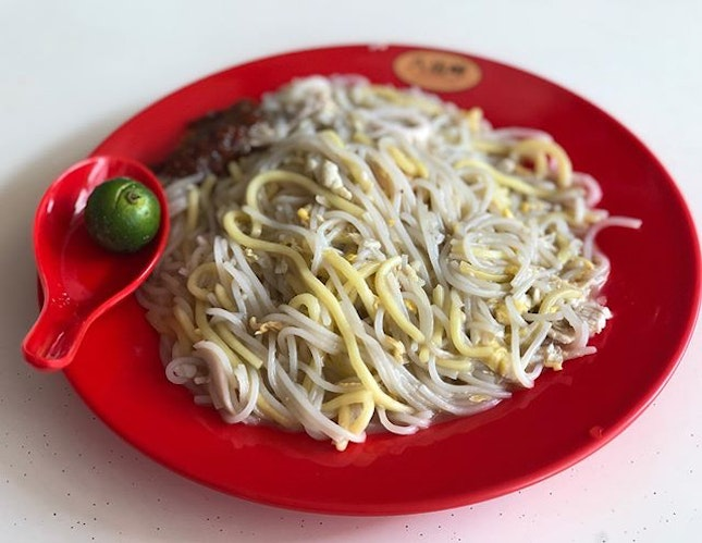 Hokkien mee (S $4) ⭐️ 4/5 ⭐️ 🍴A lesser known hokkien mee stall in the western part of Singapore.