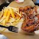 Jinjia Wings With Tteokbokki Fries