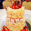 👴 Gonggong's glamorous 90YO cake 🎂🎈 supercalifragilistically #yummy!!