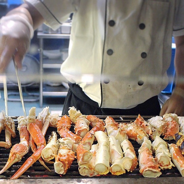 Last night's goodness // Back by popular demand, Sakura International Buffet is bringing back its highly anticipated crab buffet.