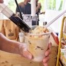 White Coffee Ice Cream Float