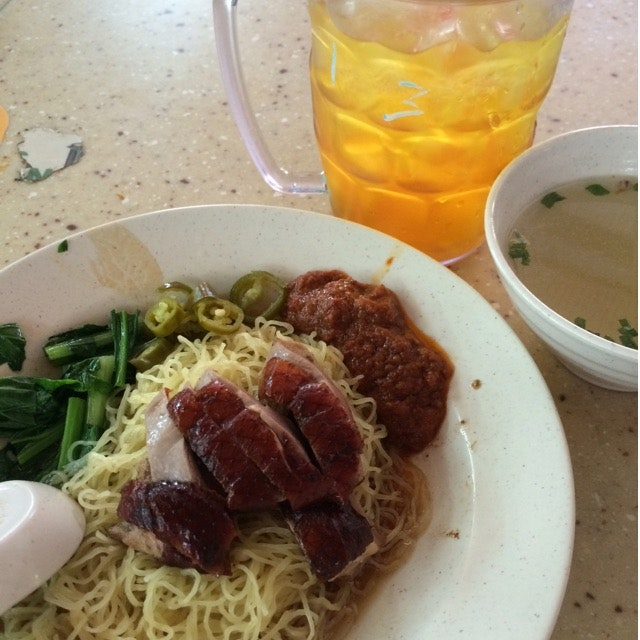Roasted Duck Noodle & Pineapple Water