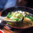 The chilly weather calls for a hot bowl of rice and soup like the ochazuke from Nobuya.