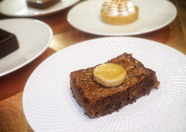Banana Bread with Espresso Butter
