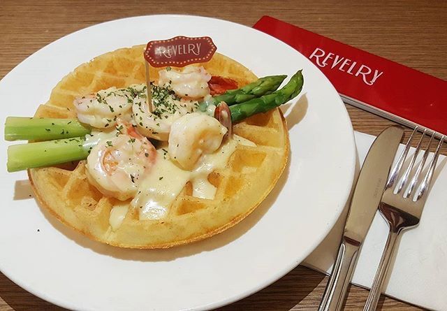 Prawn & Cheese Waffle  #foodphotography #foodgasm #burpple  #snapandeatsg #foodporn #instafood #foodsg #instafood #sgfood #hungrygowhere #sgfoodiary #sgmakandiary #foodstagram #instasg #whati8today #eatbooksg #revelry #cafehopping #foodie #cafehoppingsg #igsg