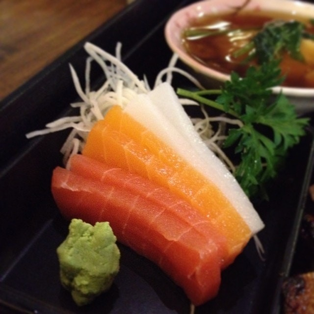Sashimi, vegetarian style.