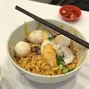 I like this fishball noodle...
