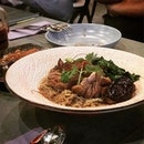 """One of the famous dishes at Enjoy Eating House And Bar is Chef J's ""Te Kar"" Bee Hoon (S$12.80)."