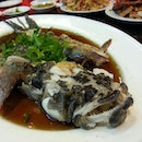 Steamed bamboo fish with soya sauce
