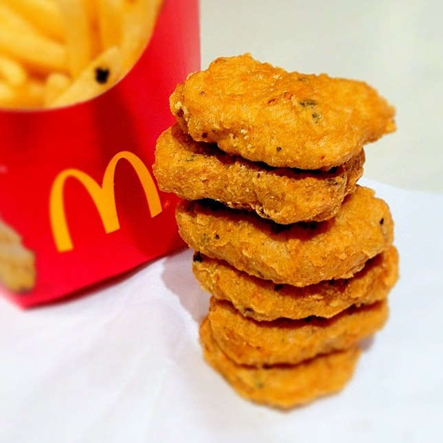 Spicy Chicken McNuggets launched today. Better than normal #Mcdonalds