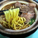 Best thing to have for rainy day is hot Claypot Bak Kut Teh noodles!