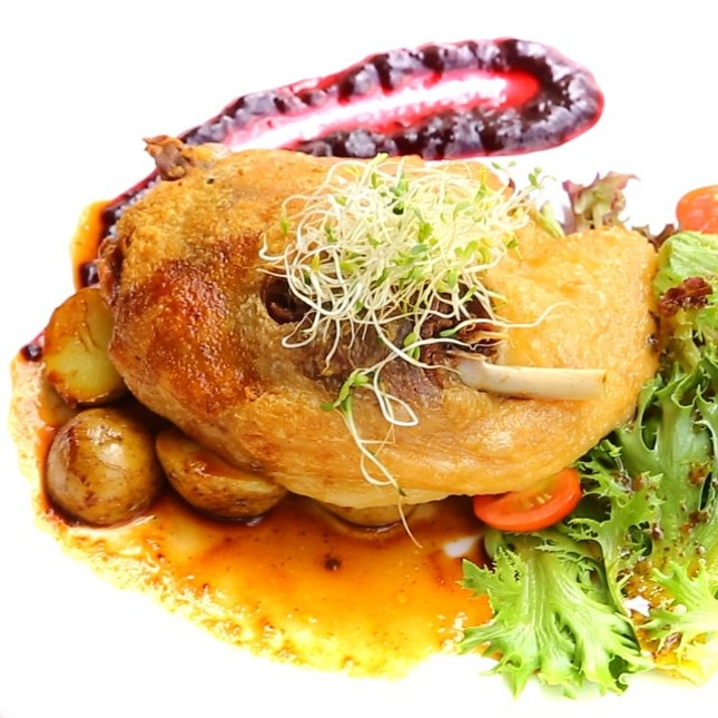 Tempting you with this oh-so-yummy Duck Confit from P Bistro.