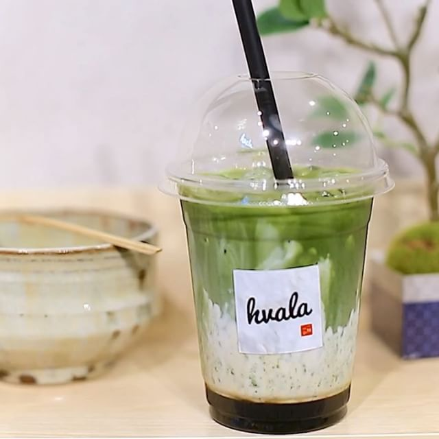 """Hvala  currently serve Matcha Latte using matcha from 2 different regions in Japan – the Uji Matcha Latte ($5.20) in which the flavour profile is described as """"vegetal and slightly astringent""""; and Nisho Matcha Latte ($5.60) with a rounder flavour and more vibrant colour comparatively."""