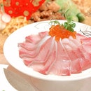 Gorgeous Auspicious Hamachi Yusheng, Bountiful Abalone Pen Cai, Pink Steamed Fortune Dumplings.