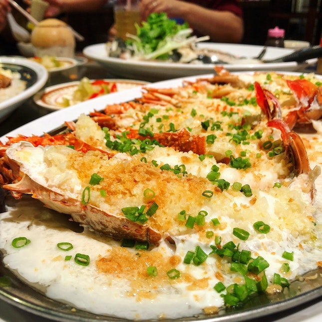 Steamed Lobster With Garlic