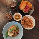Burger ($12++), Chicken Nibblets ($6++), Healthy Bowl ($14++)