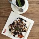 Chee Cheong Fun + Pandan Teh-O  S$4.30  Creative way of combining Pandan and Tea!