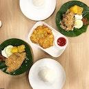 <🇩🇪> zurück zum Ursprung <🇬🇧> Back to my Roots • 🍱: Nasi Ikan Goreng - S$7.70 🍱: Nasi Empal Penyet - S$8.30 🍘: Bakwan Jagung - S$3.50 📍: @ayampenyetria.sg Singapore